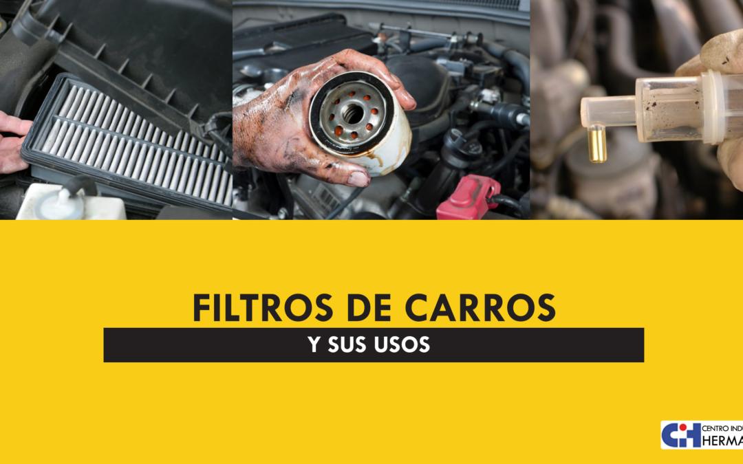 Tipos de filtros de carro y sus usos